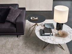 Tavolino basso rotondo in marmo MONDRIAN | Tavolino rotondo - Mondrian