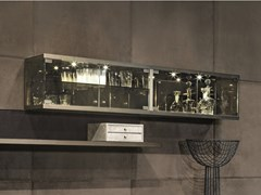 Pensile orizzontale in legno e vetro COURBET | Pensile - Loveluxe - Illusion
