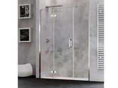 RELAX, COVER AC Box doccia a nicchia con porta a battente