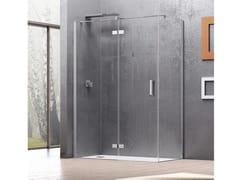 RELAX, COVER AF + F3 Box doccia angolare con porta a battente