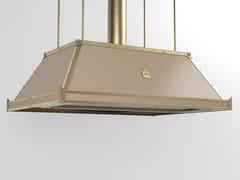 Cappa ad isola professionale in metallo in stile moderno con illuminazione integrataCPP001ISL | Cappa professionale - OFFICINE GULLO