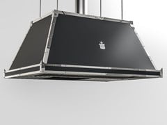 Cappa ad isola professionale in metallo verniciato con illuminazione integrataCPP002ISL | Cappa professionale - OFFICINE GULLO
