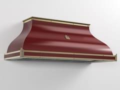 Cappa professionale in metallo in stile moderno a parete con illuminazione integrataCPP004 | Cappa professionale - OFFICINE GULLO
