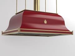 Cappa ad isola professionale in metallo verniciato con illuminazione integrataCPP013ISL | Cappa professionale - OFFICINE GULLO