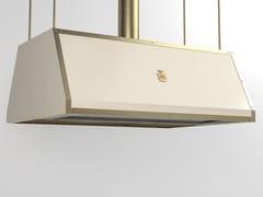 Cappa ad isola professionale in metallo verniciato con illuminazione integrataCPP017ISL | Cappa professionale - OFFICINE GULLO