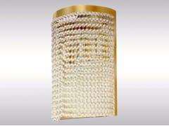 Lampada da parete a luce indiretta in ottone e vetro CR3 | Lampada da parete -