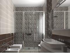 Mosaico in ceramica a pasta biancaCRAK.LÈ | Mosaico - ACQUARIO DUE CERAMICHE