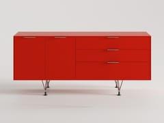 Mobile ufficio basso in legno con ante a battenteCREDENZA | Mobile ufficio basso - BK CONTRACT EQUIPMENT