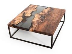 Tavolino da caffè quadratoCREEK PLUM   Tavolino basso - ALCAROL DI ELEONORA DAL FARRA