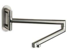 Miscelatore da cucina a muro in acciaio inox con bocca girevoleCRIKX570 - CRISTINA