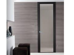 Porta a battente in vetro CRISTAL | Porta in vetro - Aluminium Chic