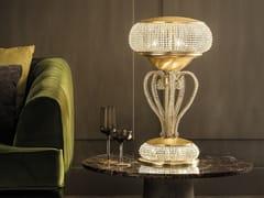 Lampada da tavolo a luce indiretta in metallo in stile moderno con cristalliCRISTALIS TL3+2 - MASIERO