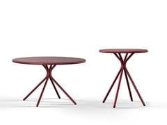 Tavolino di servizio rotondo in acciaio verniciato a polvereCRONA STEEL   Tavolino di servizio - BRUNNER
