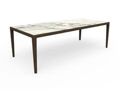 Tavolo rettangolare in gres porcellanatoCRUISE TEAK | Tavolo - TALENTI