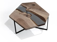 Tavolino da caffèCRYSTAL WALNUT - ALCAROL DI ELEONORA DAL FARRA