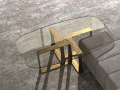 Tavolino basso rettangolare in vetro in stile moderno da salottoCUBE | Tavolino - CARPANELLI