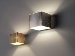 Applique in vetro CUBE | Applique foglia oro - Cube