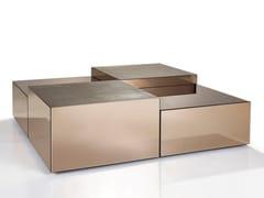 Tavolino in specchio bronzato o specchio fumèCUBE - SICIS