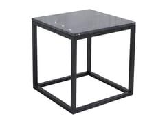 Tavolino / comodino in rovere CUBE TABLE BLACK OAK & MARBLE -