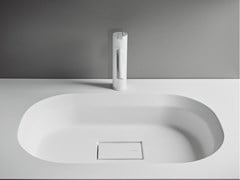 Lavabo in Solid Surface con piano CUBE | Lavabo in Solid Surface -