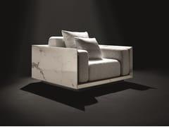 Poltrona in tessuto con struttura in marmo di CarraraCUBIC-A - HOME DESIGN BY FRANCHI UMBERTO MARMI
