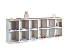 Libreria ufficio modulare in alluminio e legnoCUBIC - ACTIU