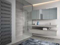 Mobile lavabo singolo in legno con specchio CUBIK N°06 - Cubik