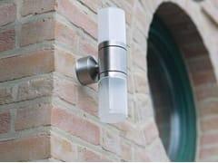 Applique per esterno in acciaio inox e vetroCUBIX K - BEL-LIGHTING