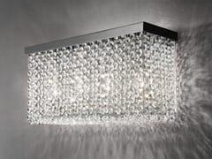 Lampada da parete in metallo con cristalliCUBO A LONG - MASIERO