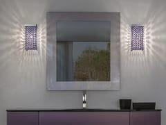 Lampada da parete in metallo con cristalliCUBO A SQUARE - MASIERO