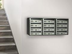 Alubox, CUBO COMPOSTO RIVISTA Cassetta postale a muro in lamiera zincata