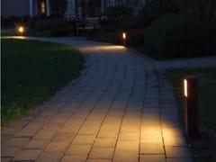 Lampada da terra per esterno a LED in acciaioCUBO PALETTO 15 - VIABIZZUNO