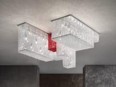 Lampada da soffitto in metallo con cristalliCUBO PL COMBO - MASIERO