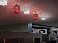 Lampada da soffitto in metallo con cristalliCUBO PL SQUARE - MASIERO