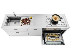 Cucina lineare in acciaio inox CUCINA 250 | Cucina in acciaio inox ...