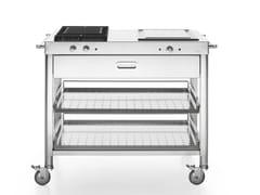 Cucina da esterno a gas elettrica con grillOUTDOOR 100 | Cucina da esterno con grill - ALPES-INOX