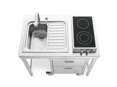 Elemento cucina per lavaggio e cottura in acciaio inoxCUCINE 100 - ALPES-INOX