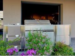 Cucina da esterno in acciaio inox con barbecueCUN CUCINA OUTDOOR BARBECUE - JOKODOMUS