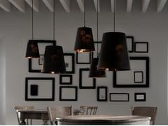 Lampada a sospensione a LED a luce diretta in cotone CUPIDO | Lampada a sospensione in tessuto - Cupido