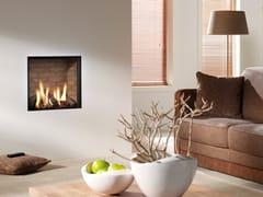Element4, CUPIDO Caminetto a gas in acciaio a parete con vetro panoramico