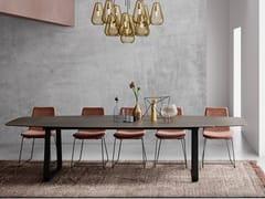 Tavolo allungabile con piano in Xeramica® o Matilux®CURVE XL - JOLI