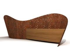 LAB23, CURVO Panchina in acciaio e legno