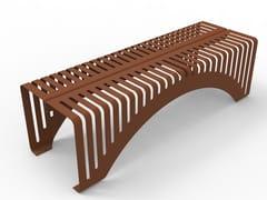 Panchina in acciaio Corten™ senza schienaleCUT 002 - TRACKDESIGN