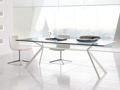 Tavolo rettangolare in acciaio CUT | Tavolo rettangolare -