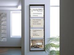 Cartello segnalatore in alluminio per interniCartello segnalatore a parete - STUDIO T
