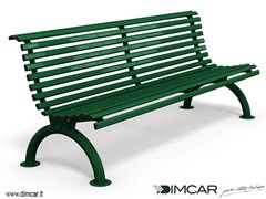 Panchina in acciaio zincato con schienalePanchina Cervino - DIMCAR