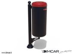 Portarifiuti con coperchio per raccolta differenziataCestino Ecocity per raccolta T-F - DIMCAR