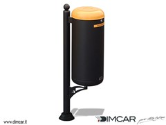 Portarifiuti con coperchio per batterie scaricheCestino Ecocity raccolta pile esauste - DIMCAR