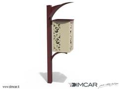 Portarifiuti interrato in metallo con coperchioCestino Giglio - DIMCAR