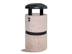 Portarifiuti in cemento con coperchioLUNA - DIMCAR